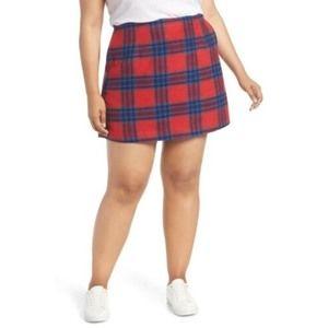 BP. From Nordstrom Melton Plaid Miniskirt 1X